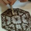 Sample Chocolate Doily: Photo by Susan Jackson of Julia M Usher