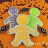 Neon Halloween Skeletons