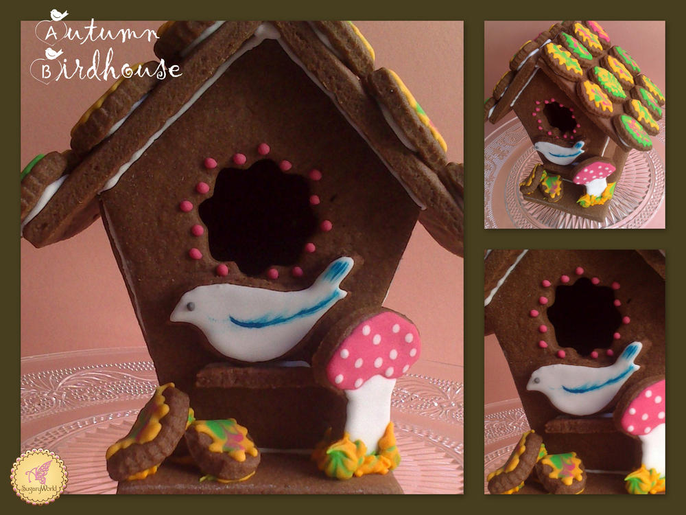 3d Autumn birdhouse