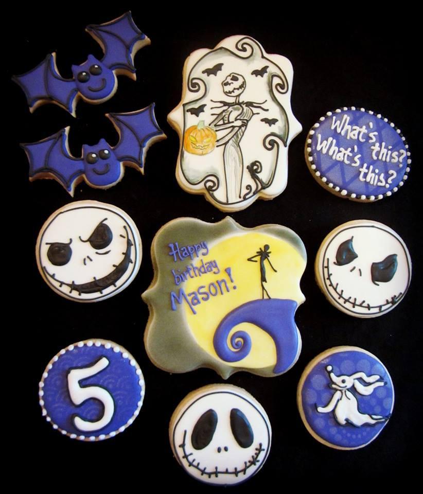 Jack Skellington Birthday Cookies Cookie Connection
