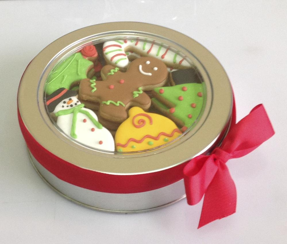 Christmas Tin Cookies.Christmas Cookie Tin Cookie Connection