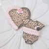 Leopard Onesie and Leopard Heart Cookies