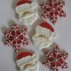 Santa Faces and Snowflakes