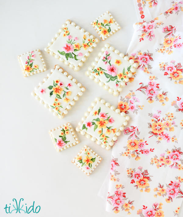 Calico Fabric Cookies