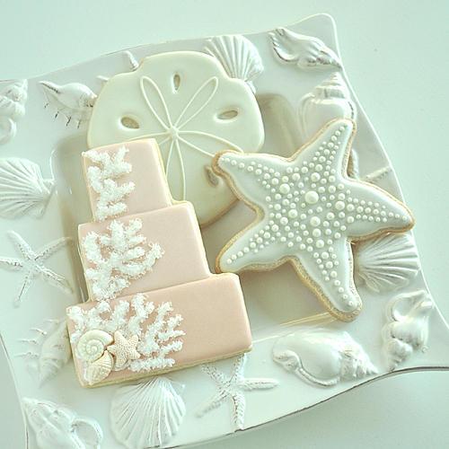 Seaside Wedding Cookies