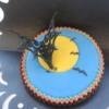 Lynda's-Bats and the Moon Halloween Cookie-2013