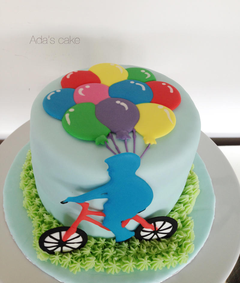 Balloons Amp Boy On A Bicycle Cookie Connection