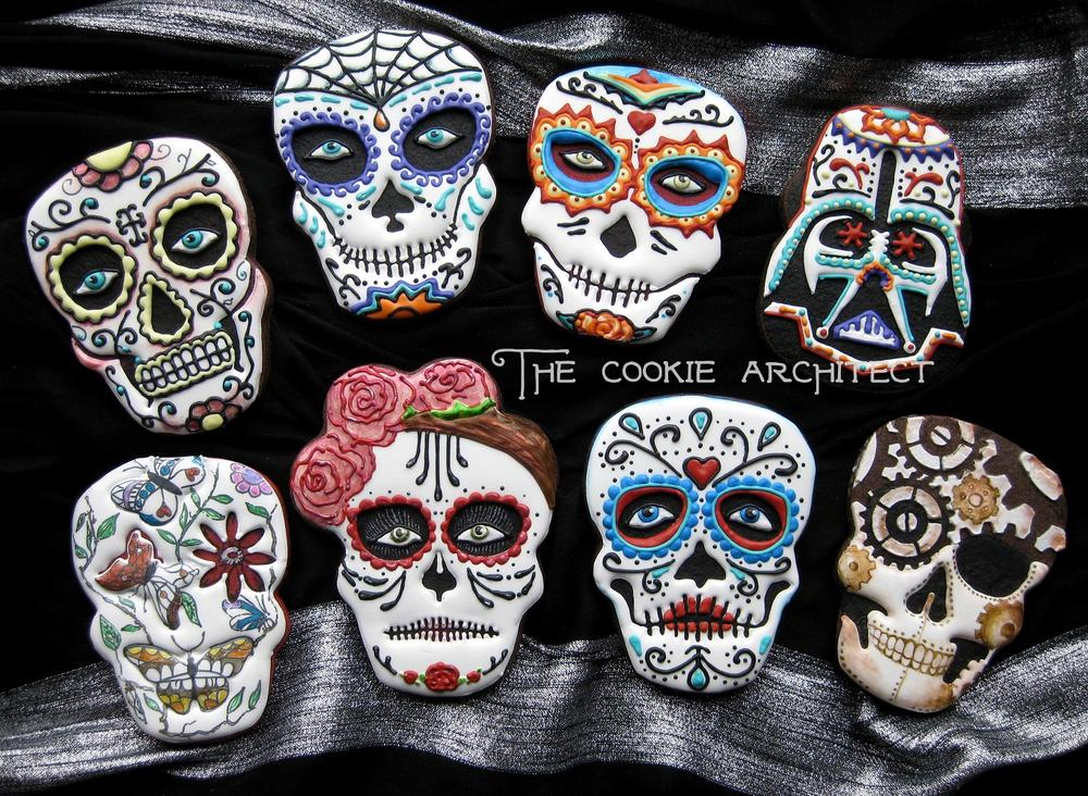 Top Sugar Skull Face Paint Cookies- The Cookie Architect | Cookie  BE83
