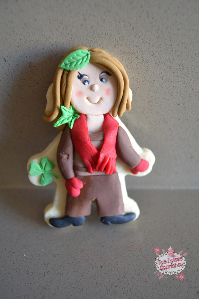 #galleta niña# #galleta personalizada otoño#