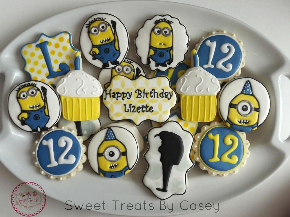 Despicable Me Inspired Birthday Platter Cookie Connection