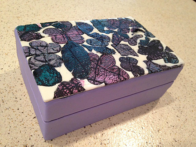 Abstract Flower Cookie Box