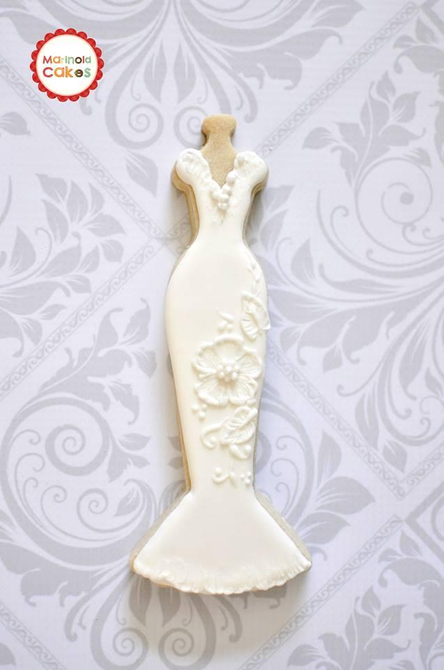 Bridal gown cookie cookie connection for Wedding dress cookie cutters