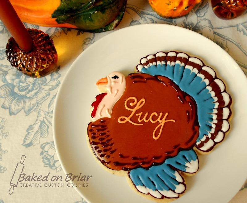 Thanksgiving place card cookie