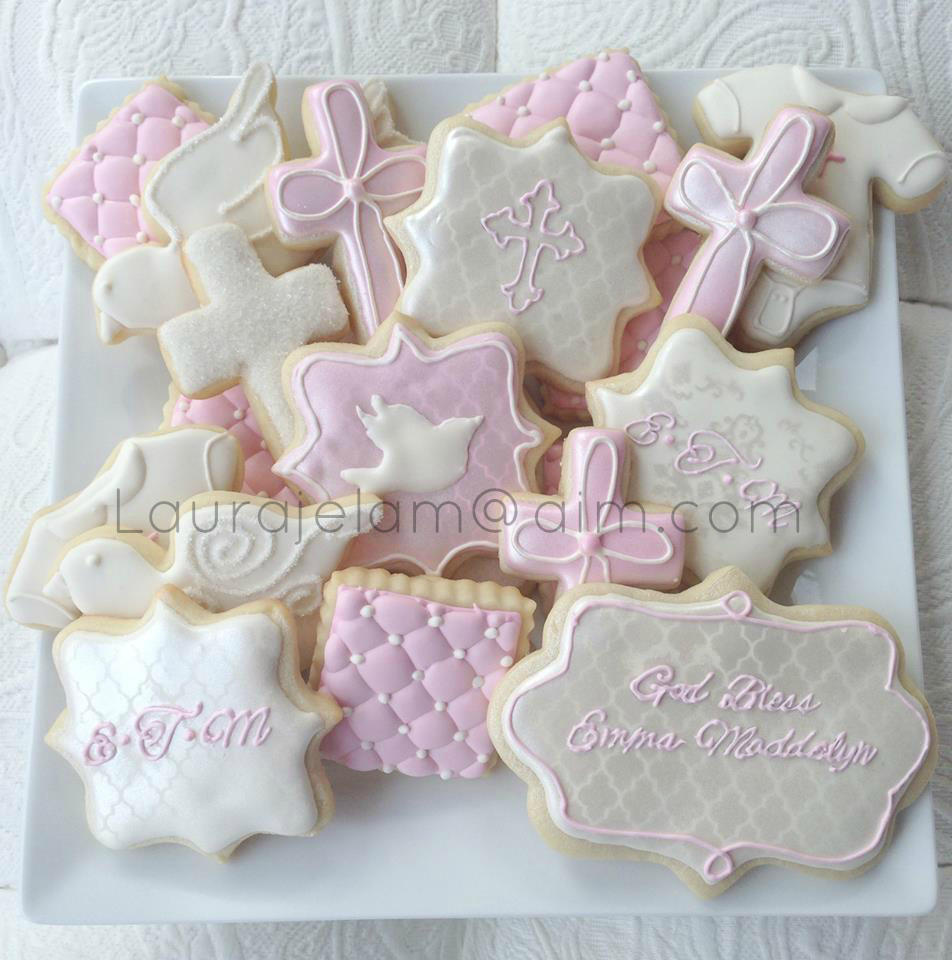 Baptism Cookie Platter Girl Cookie Connection
