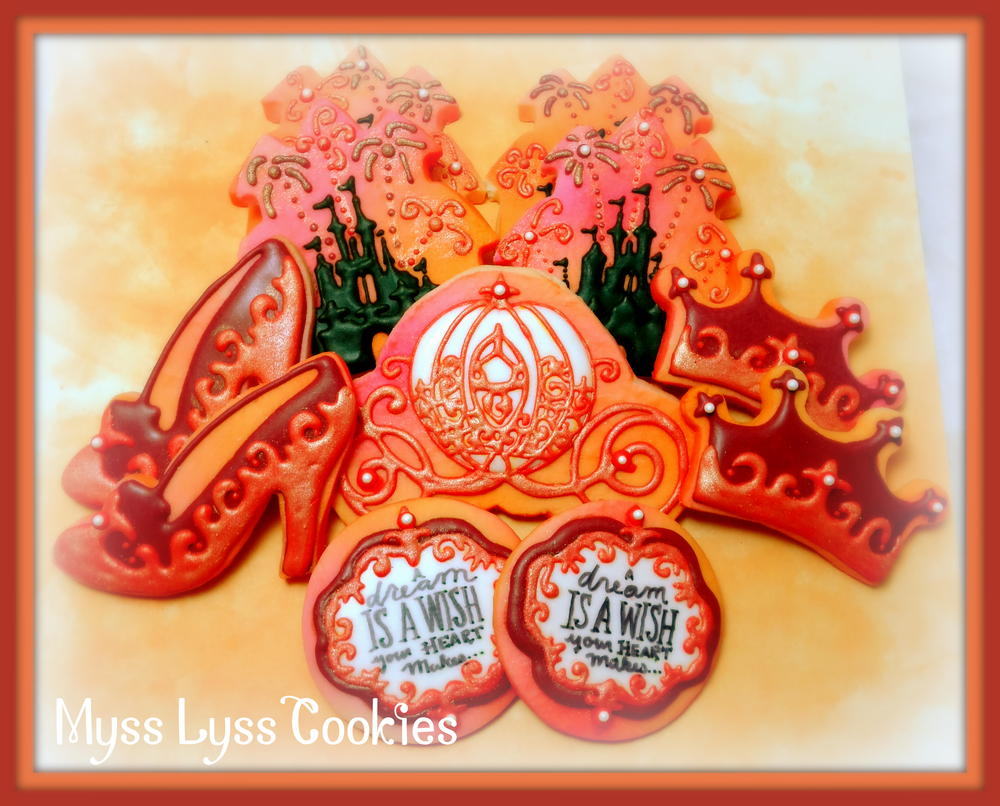Cinderella Cookies in Fall Themed Colors