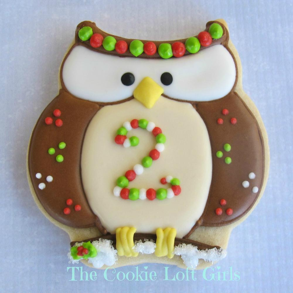 Owl Decorated Cookies Christmas Owl Cookie Connection