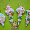 Christmas Cookie Ornaments Blue & Pink