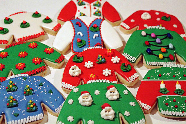 Cookies For An Ugly Sweater Christmas Party Cookie Connection