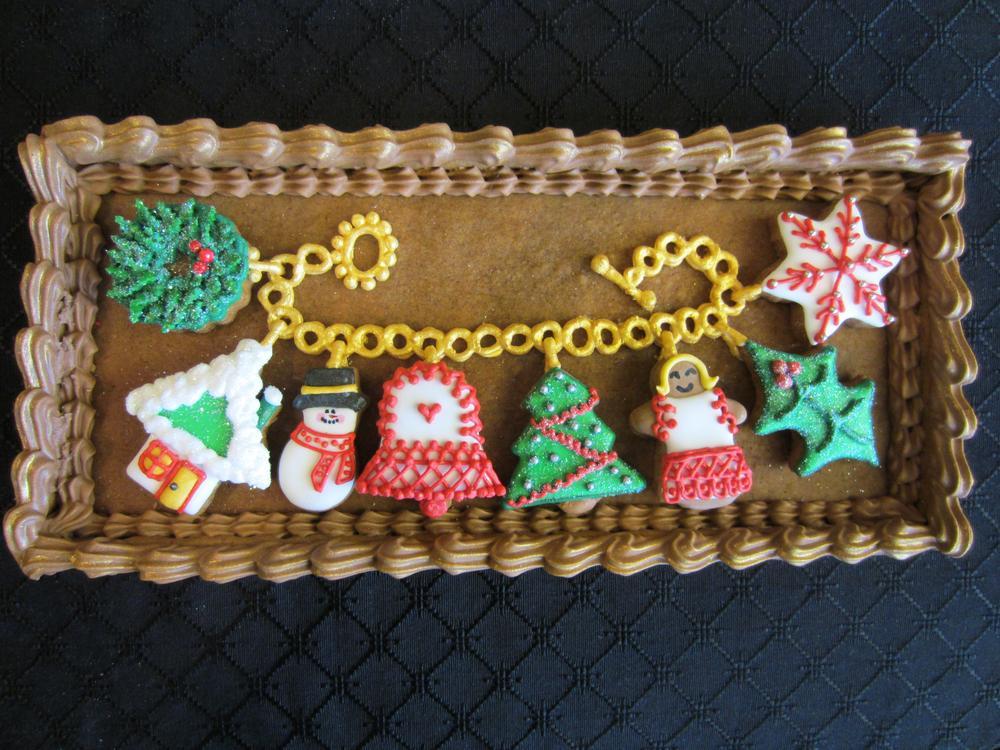 Christmas Charm Bracelet in Open Gift Box