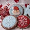 Santa and Snowflakes