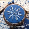Blue royal Xmas cookies