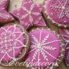 Xmas fuchsia cookie set