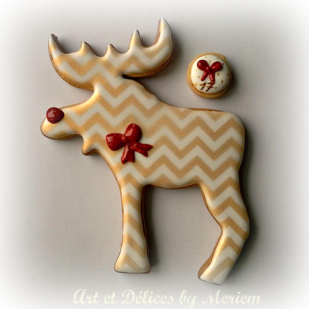 Christmas Chevron Reindeer Silhouette