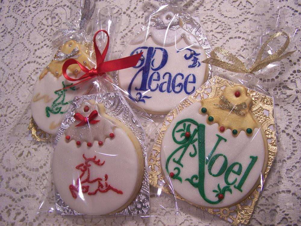 Christmas Cookies Stencil Fondant Cookie Connection