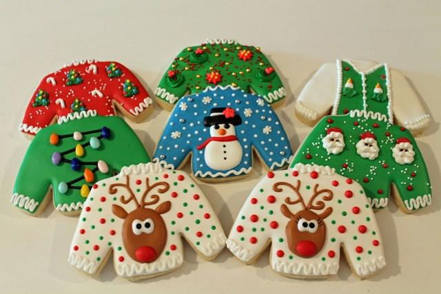 christmas sweater cookies christmas sweater cookies - Ugly Christmas Sweater Party Decorations
