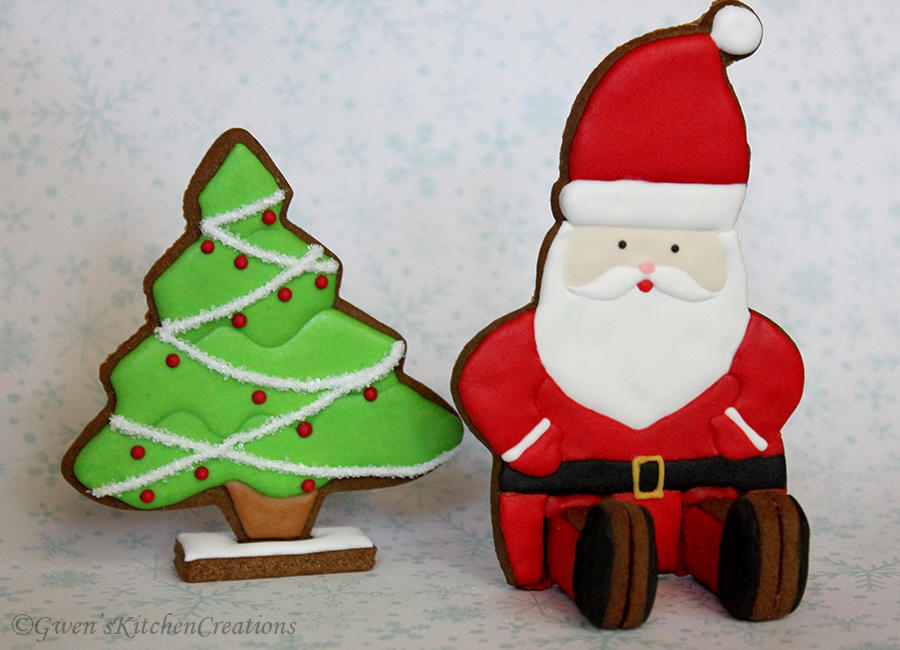 3d Santa And Christmas Tree Cookie Connection