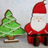 3D Santa and Christmas Tree