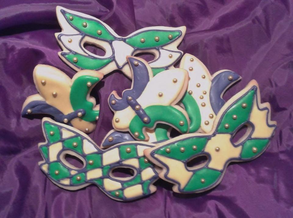 Mardis Gras Cookies