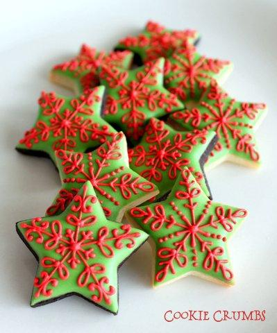 Mini Christmas Star Cookies Cookie Connection