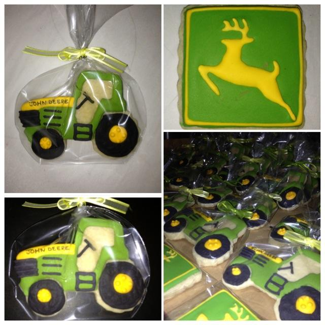 John Deere Birthday Cookies