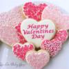 Filigree hearts cookies