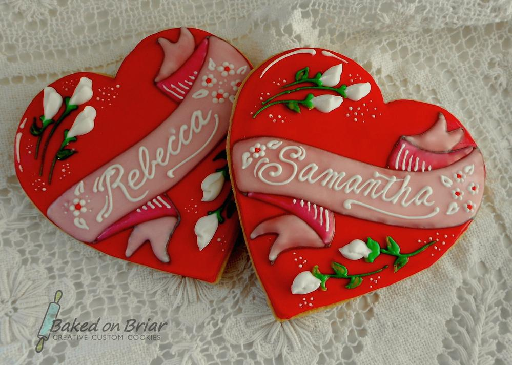 Personalized Cookie Hearts