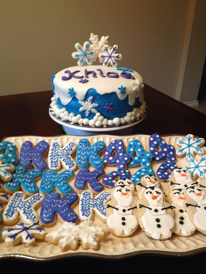 Frozen Themed Cake And Cookies Cookie Connection