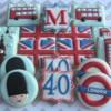 British Invasion 40th Birthday Cookies