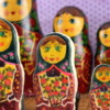 russian doll painted cookies