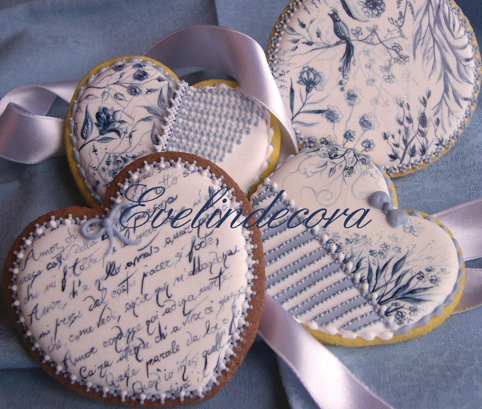 Toile de Jouy handpainted cookies on RI
