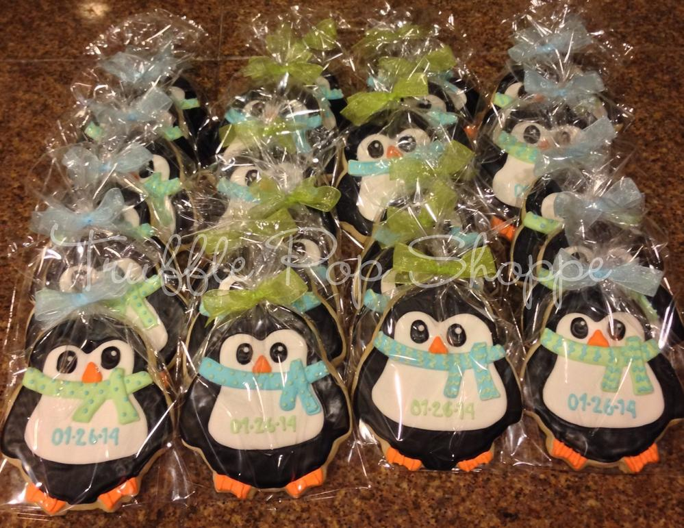 ... Penguin Baby Shower Decorations By Penguins For Baby Boy Shower Cookie  Connection ...
