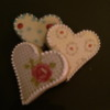 romantic heart cookies