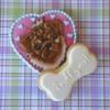 I ruff you Valentine's day cookie