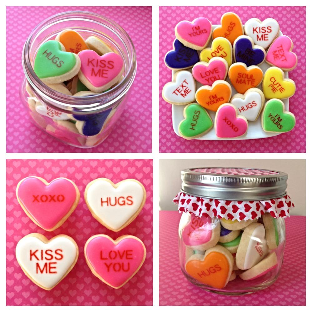 Valentine Candy Heart Cookies