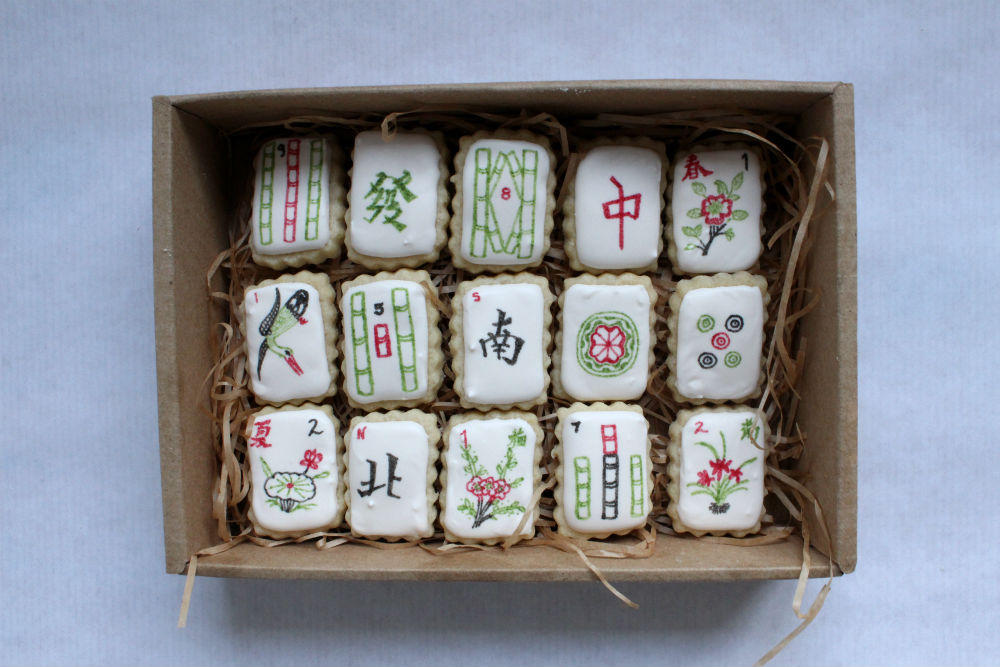 Mahjong Cookie Tiles