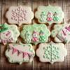 Cheery, girly snowman cookies