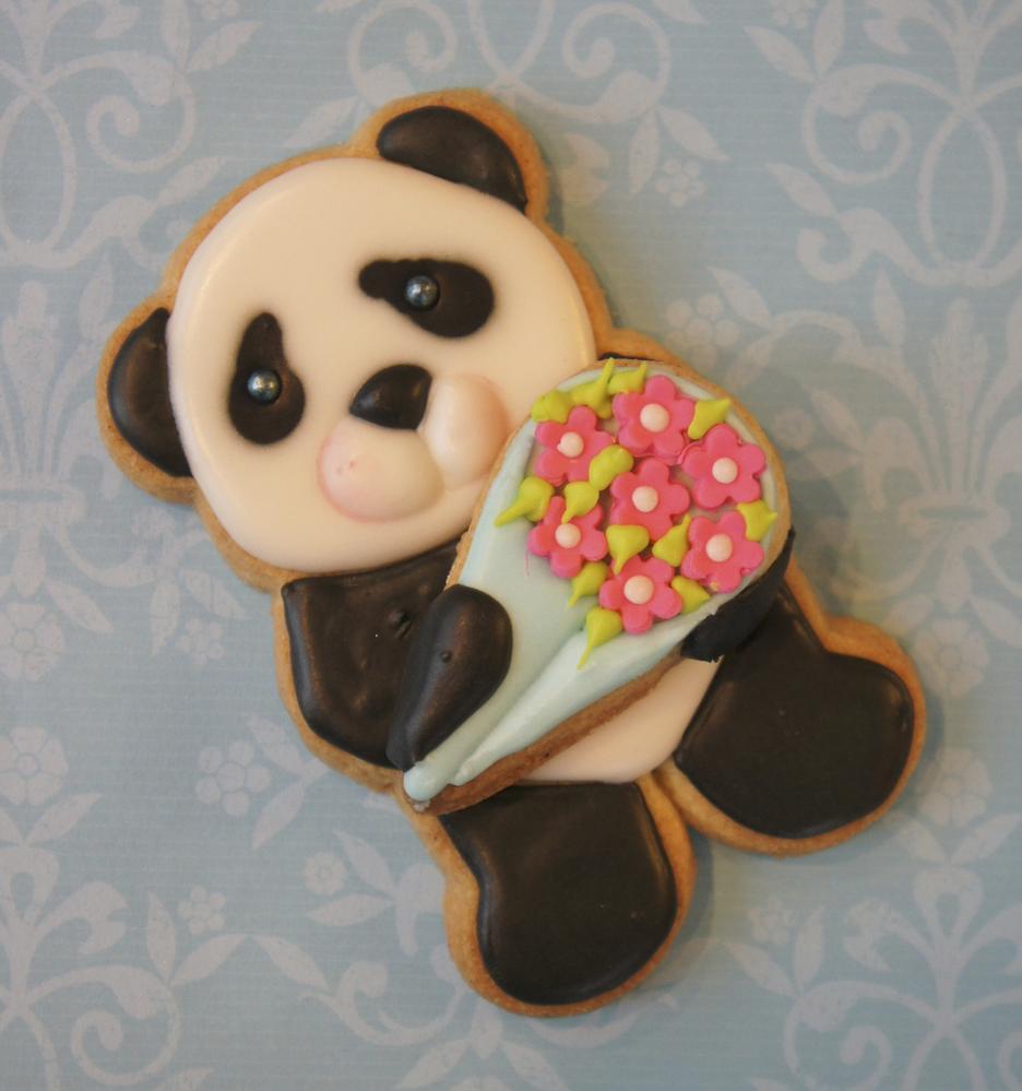Cute panda bear cookie