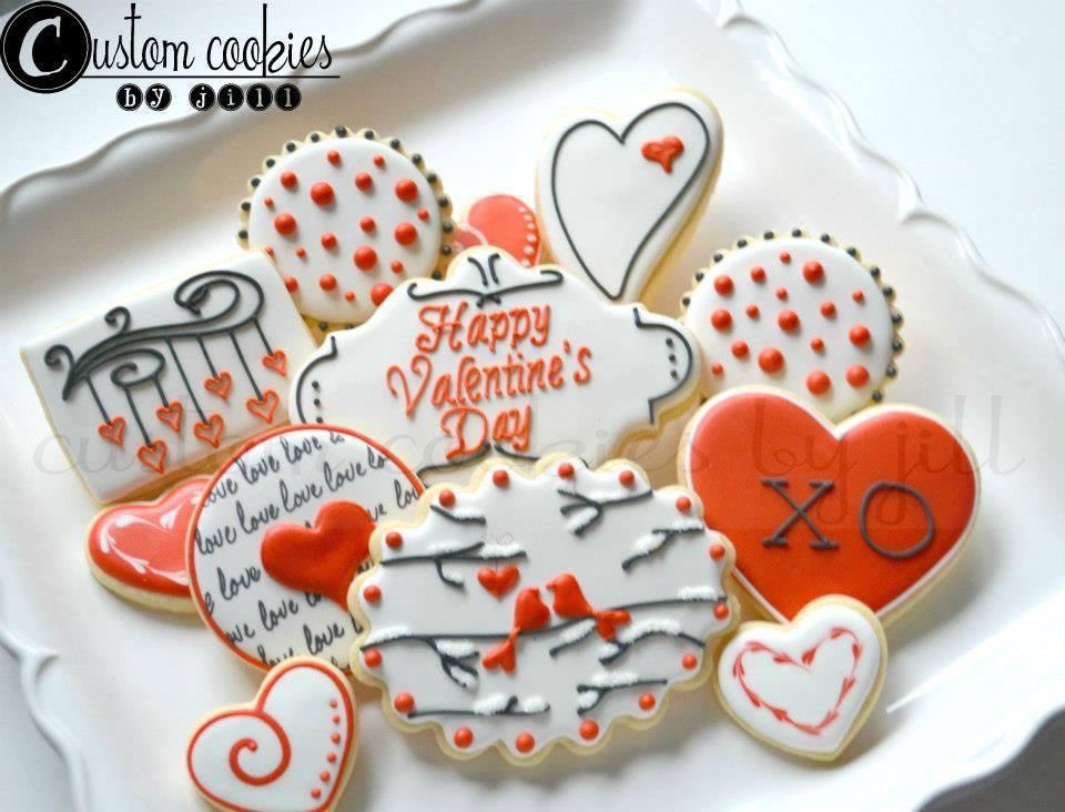 valentine's day - custom cookiesjill   cookie connection, Ideas