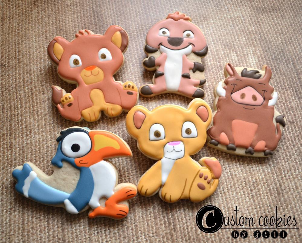 Lion King Baby Shower Custom Cookies By Jill Cookie