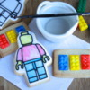 Lego Movie Cookies - Paint palette cookies